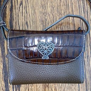 NEW Brighton Faux Croc Leather Wallet Crossbody